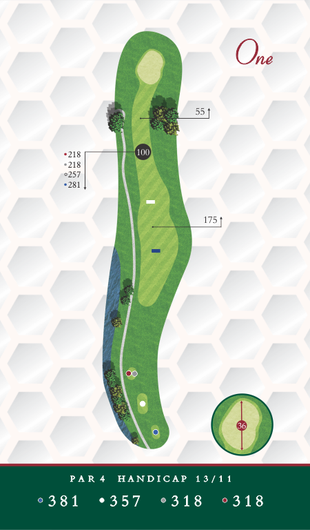 Chesapeake Golf Club Hole 1 Map