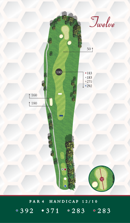 Course Map Chesapeake Golf Club Hole 12
