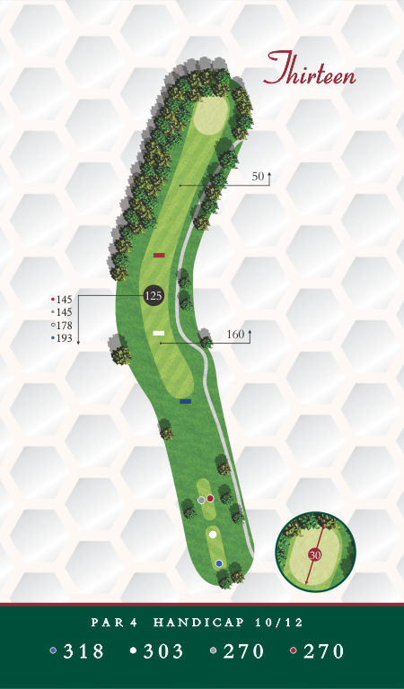 Course Map Chesapeake Golf Club Hole 13