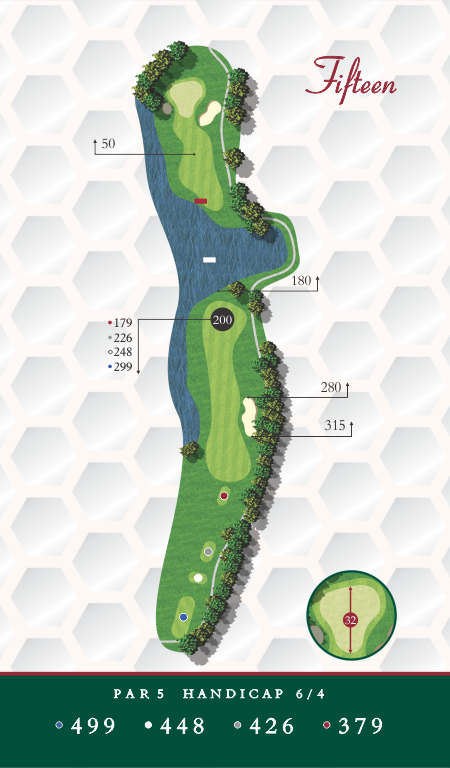 Course Map Chesapeake Golf Club Hole 15