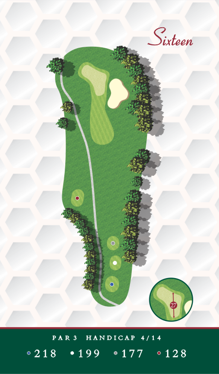 Course Map Hole 16 Chesapeake Golf Club