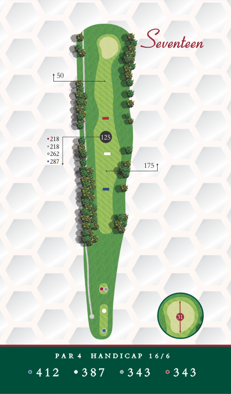 Course Map Hole 17 Chesapeake Golf Club