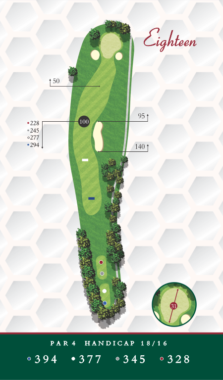 Course Map Hole 18 Chesapeake Golf Club