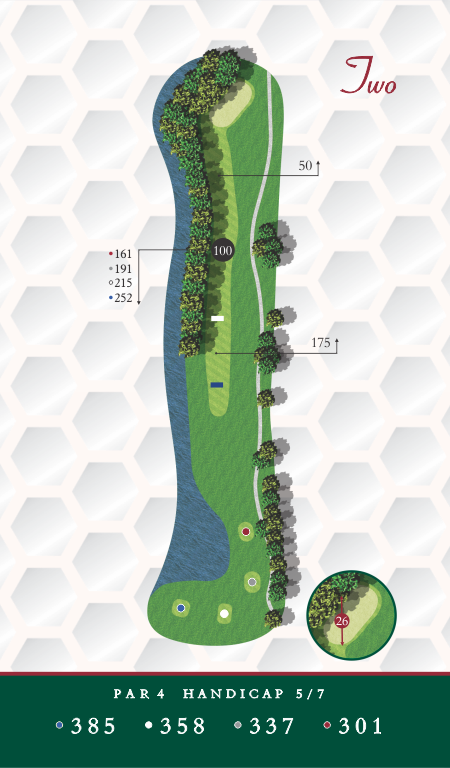 Chesapeake Golf Club Hole 2 Map