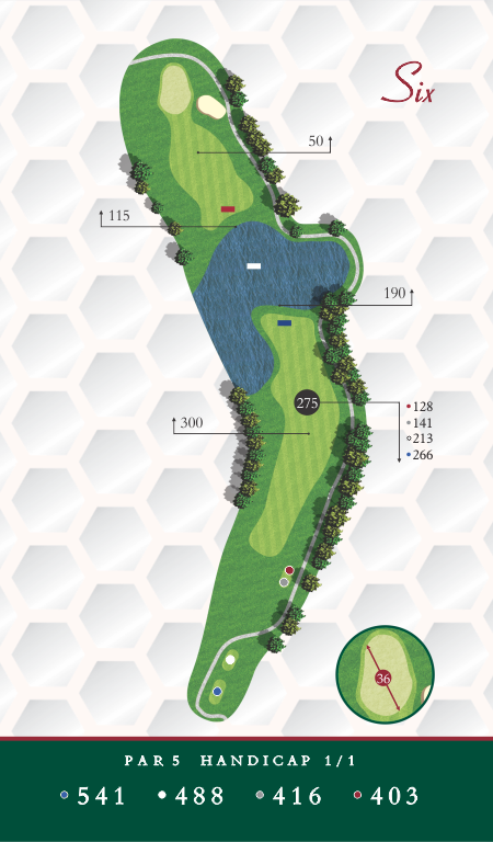 Map of Chesapeake Golf Club Hole 6