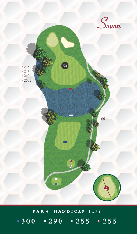 Course Map Chesapeake Golf Club Hole 7