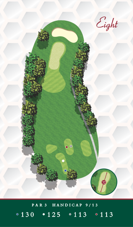 Course Map Chesapeake Golf Club Hole 8